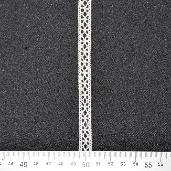 Čipka, bombaž, 10mm, 17028-10107, bela