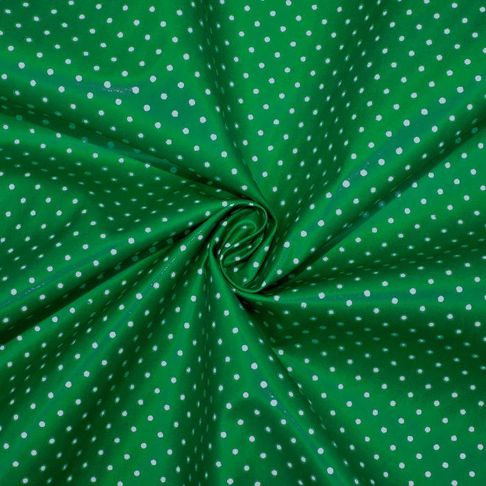 Bombaž, impregniran, pikice, 17051-025, zelena