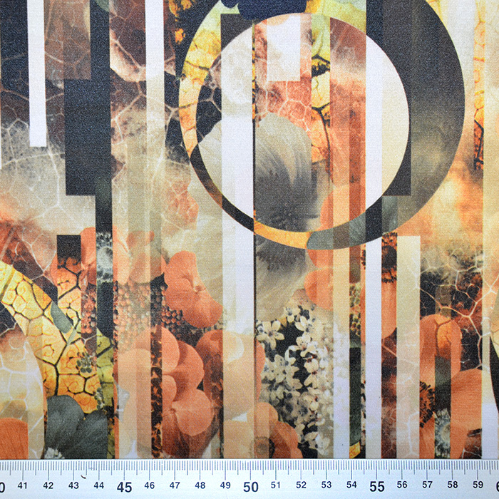 Saten, bombaž, poliester, 17060-053, abstrakten