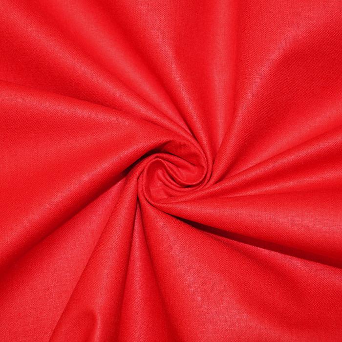 Pamuk, popelin, 16386-34, crvena