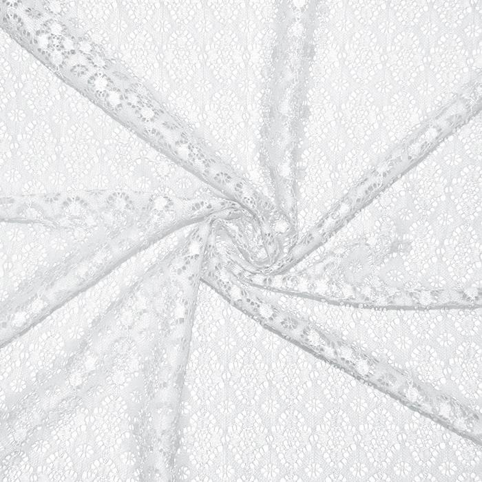 Čipka, elastična, 17172-050, bela