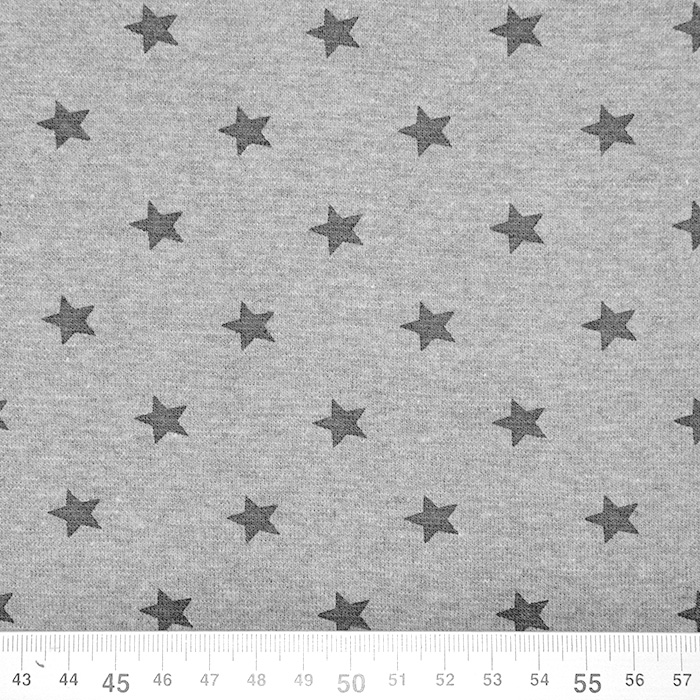 Patent, zvezde, 17185-163, melanž siva