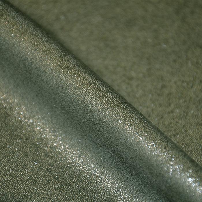 Semiš, brušeno pletivo, 17294-027, zelena