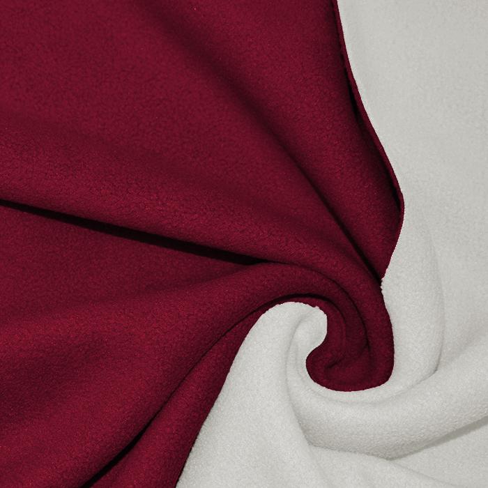 Velur, dvobarvni, 17350-37, bela-rdeča