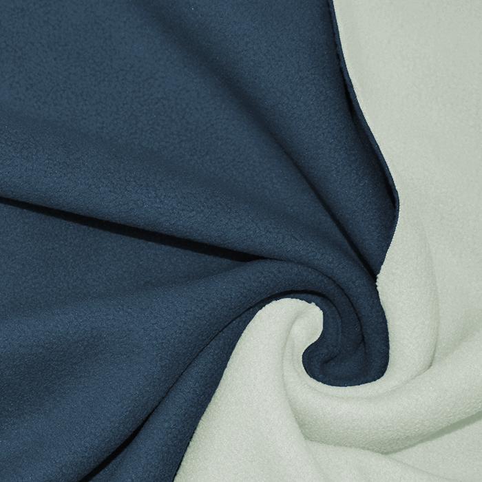 Velur, dvobarvni, 17350-55, smetana-modra