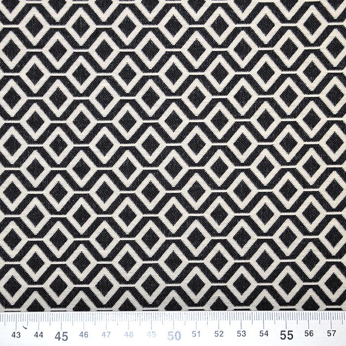 Tkanina, elastična, geometrijski, 17413-998, črna