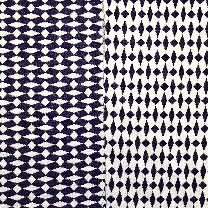 Tkanina, elastična, geometrijski, 17413-601, modra