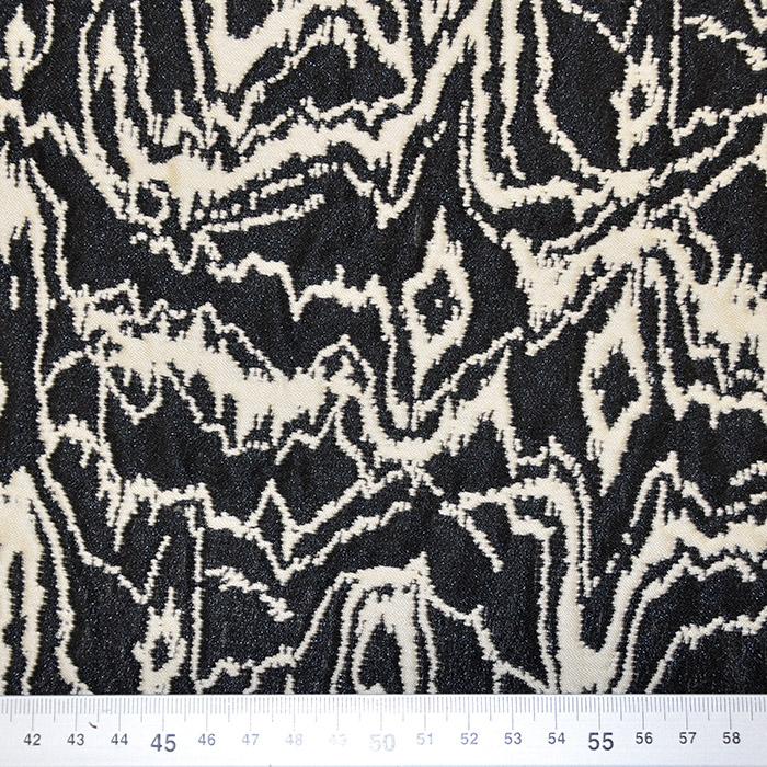 Žakard, abstraktni, 17481-53, črno-smetana