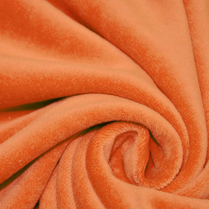 Pliš bombažen, 13348-036, oranžna