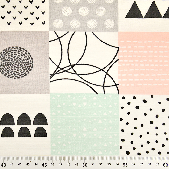 Deko, tisk, geometrijski, 17585-01