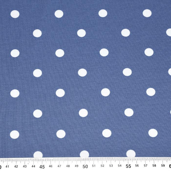 Jersey, pamuk, točke, 17612-006, plava
