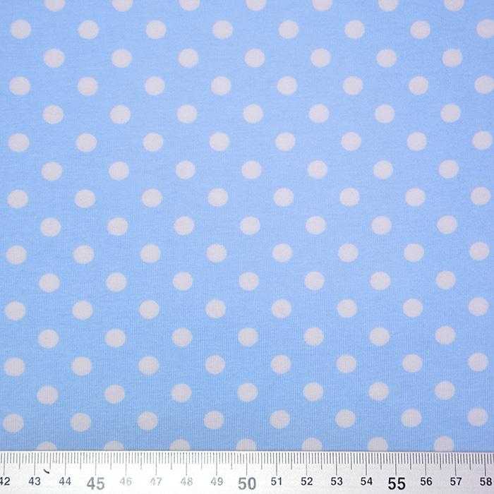 Jersey, pamuk, točke, 17621-002, svjetloplava