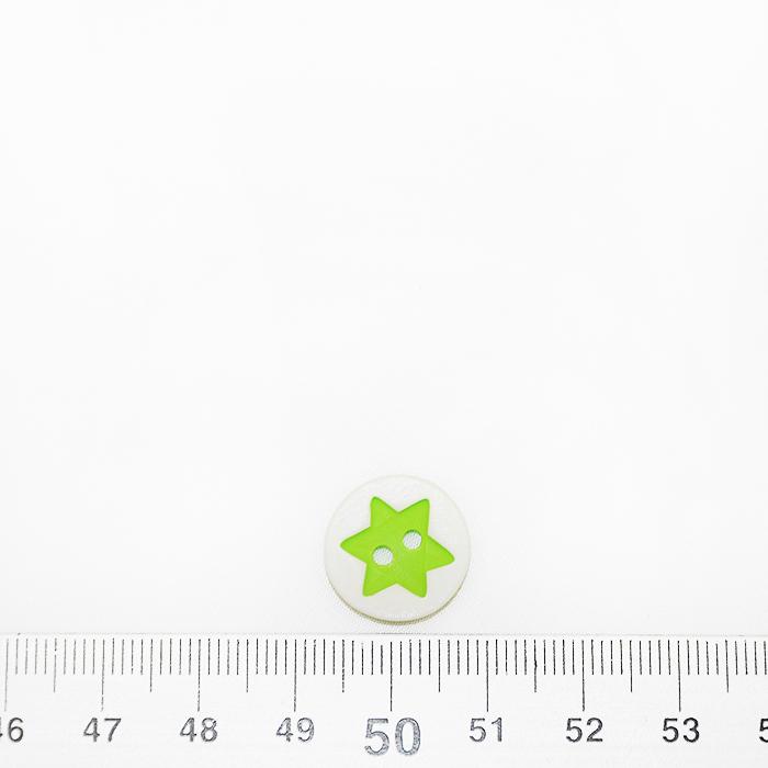 Gumb, 3D Zvezda, 17644-43260, zelena
