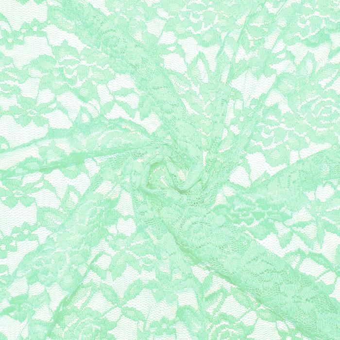 Čipka, elastična, 17830-322, mint
