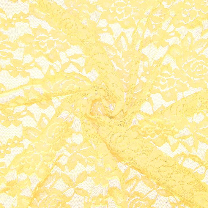 Čipka, elastična, 17830-570, rumena