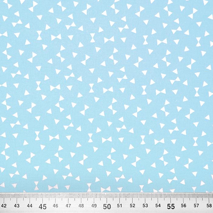 Bombaž, poplin, geometrijski, 17881-1, modra