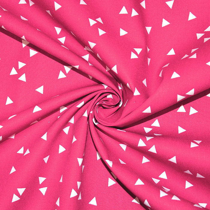 Pamuk, popelin, geometrijski, 17948-006, ružičasta