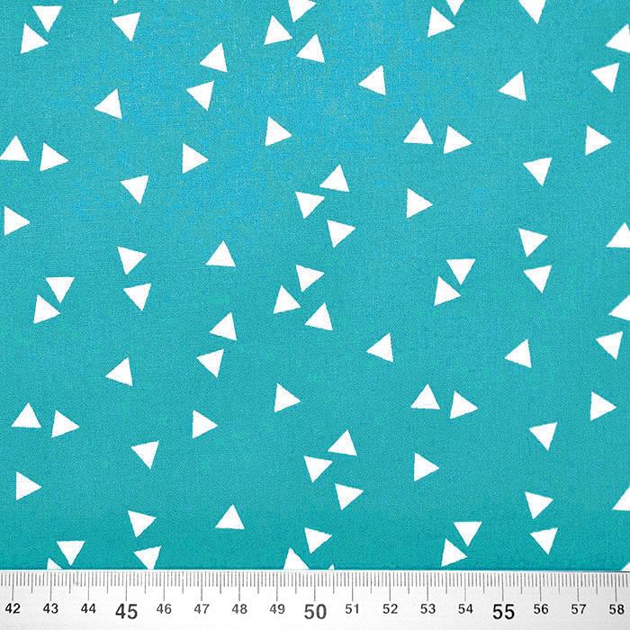 Pamuk, popelin, geometrijski, 17948-009, tirkizna