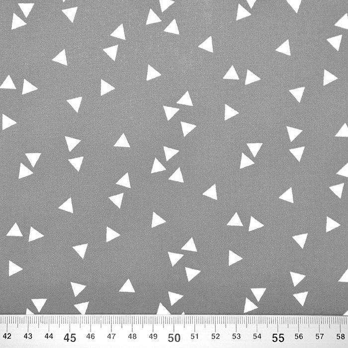 Bombaž, poplin, geometrijski, 17948-013, siva