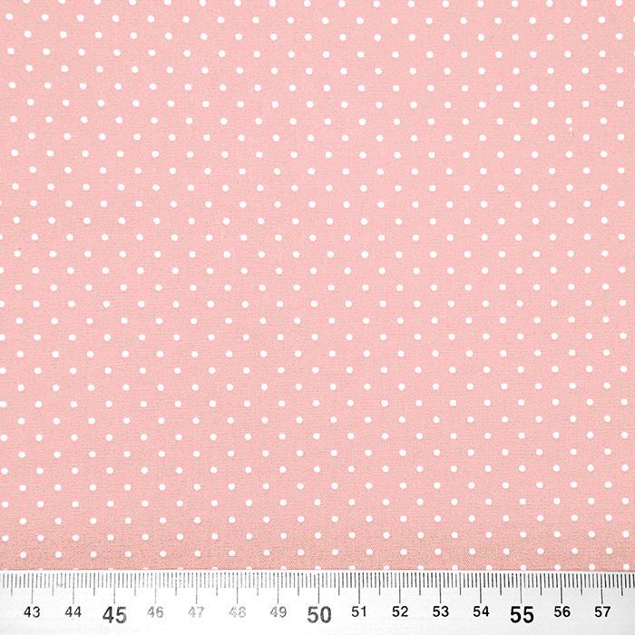 Bombaž, poplin, pikice, 17950-012, roza