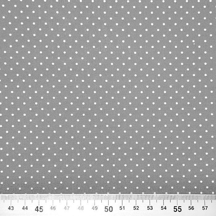 Bombaž, poplin, pikice, 17950-013, siva
