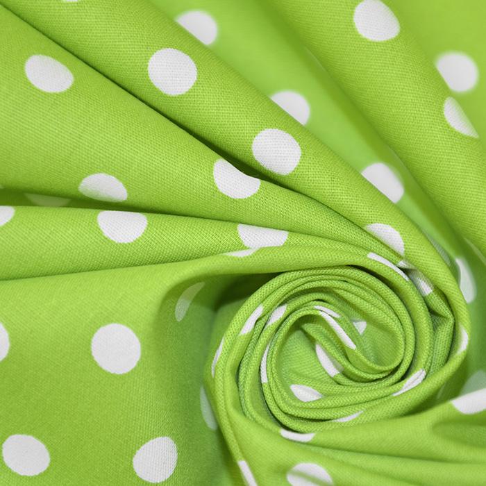 Pamuk, popelin, točke, 17952-008, zelena
