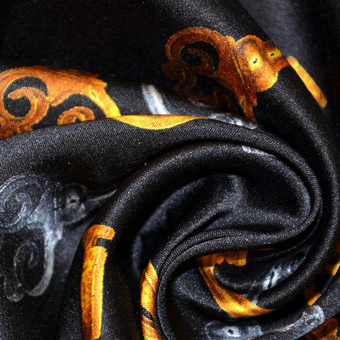 Svila, saten, retro, 18092-806, črna