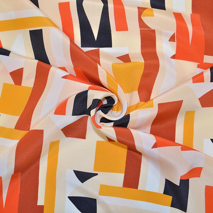 Svila, saten, geometrijski, 18095-128