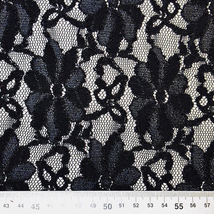 Čipka, cvetlični, 18128-5, temno modra