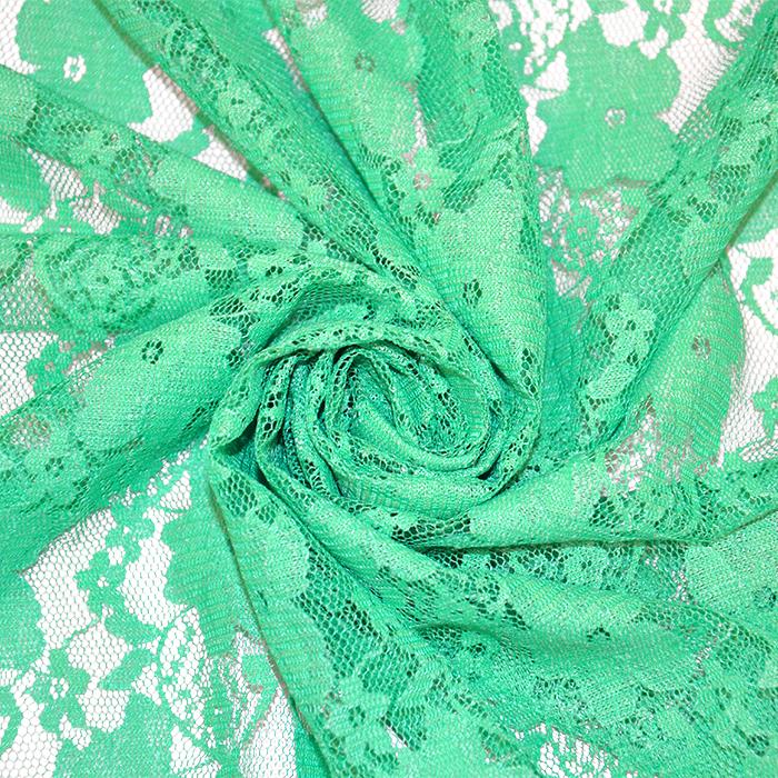 Čipka, elastična, cvetlični, 18132-12, mint