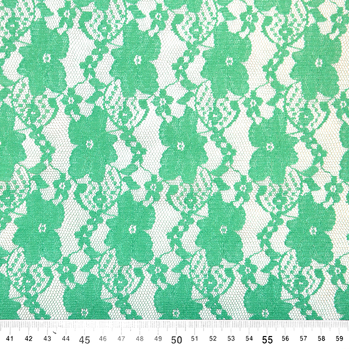 Čipka, elastična, cvjetni, 18132-12, mint