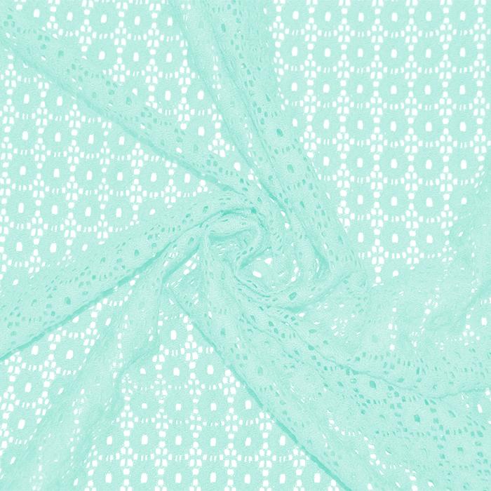Čipka, krogci, 18132-22, svetlo mint