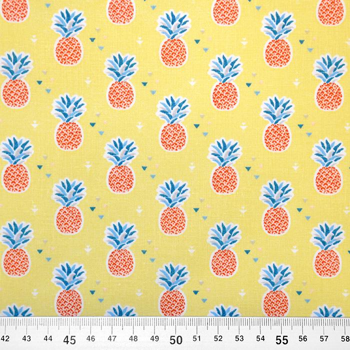 Bombaž, poplin, sadje, 18175-1, rumena