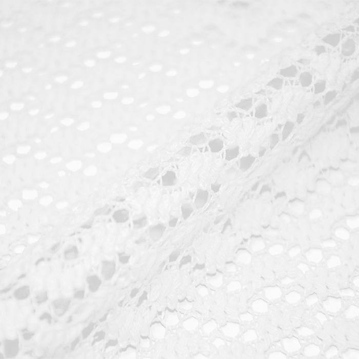 Čipka, geometrijski, 17930-050, bela