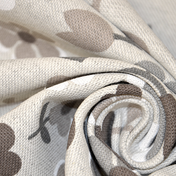 Deko, tisk, cvetlični, 18275-6028, rjava