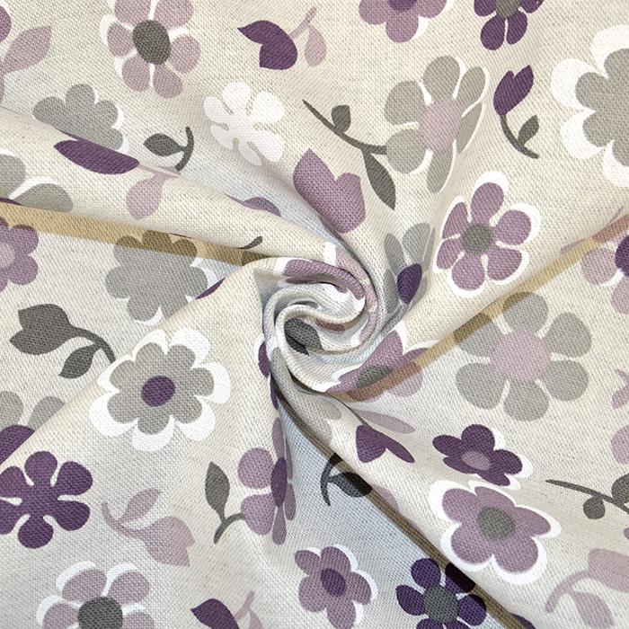 Deko, tisk, impregniran, cvetlični, 18277-6031, vijola