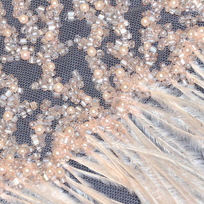 Čipka, ekskluziva, 18378-2, marelica