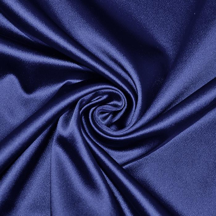 Saten tkanina z elastanom, 17508-13, modra