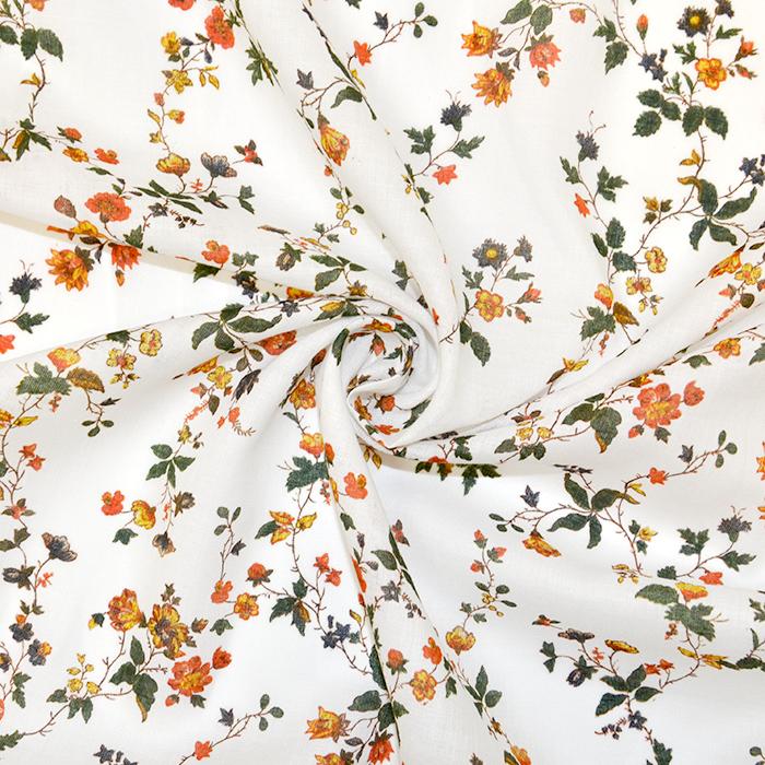 Bombaž, tanek, cvetlični, 18157-04