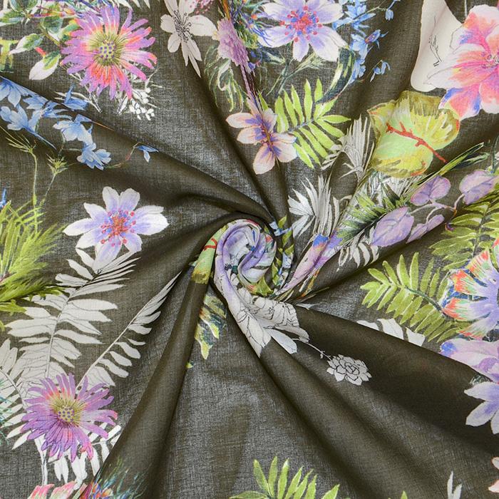 Bombaž, tanek, cvetlični, 18157-30