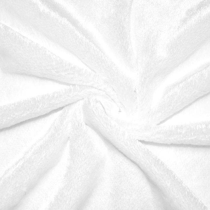 Krzno, umetno, kratkodlako, 18482-2, bela