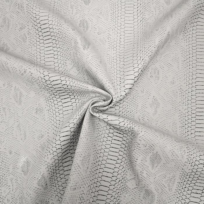 Umetno usnje, kača, 17700-1, siva perla