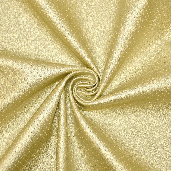 Umetno usnje, oblačilno, pike, 18568-075, zlata