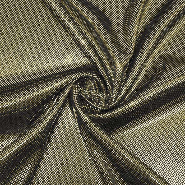 Pletivo, lame, 17595-075, črno zlata