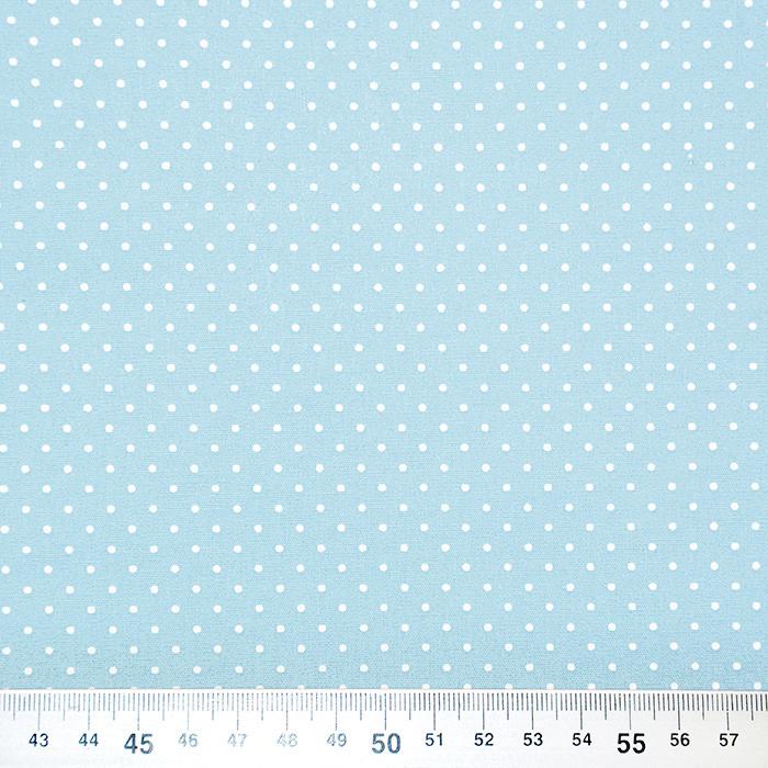 Bombaž, poplin, pikice, 17950-020, modra