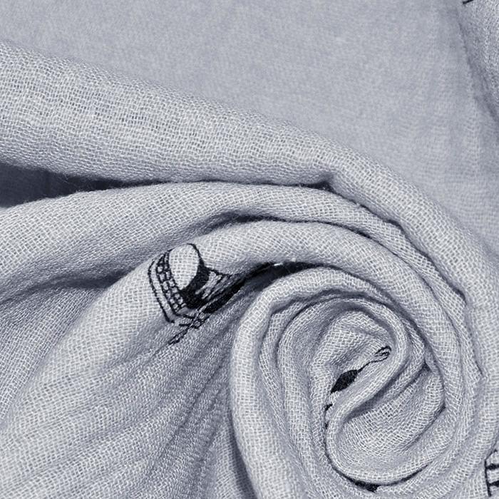 Tetra tkanina, dvojna, mladinski, 18659-061, siva