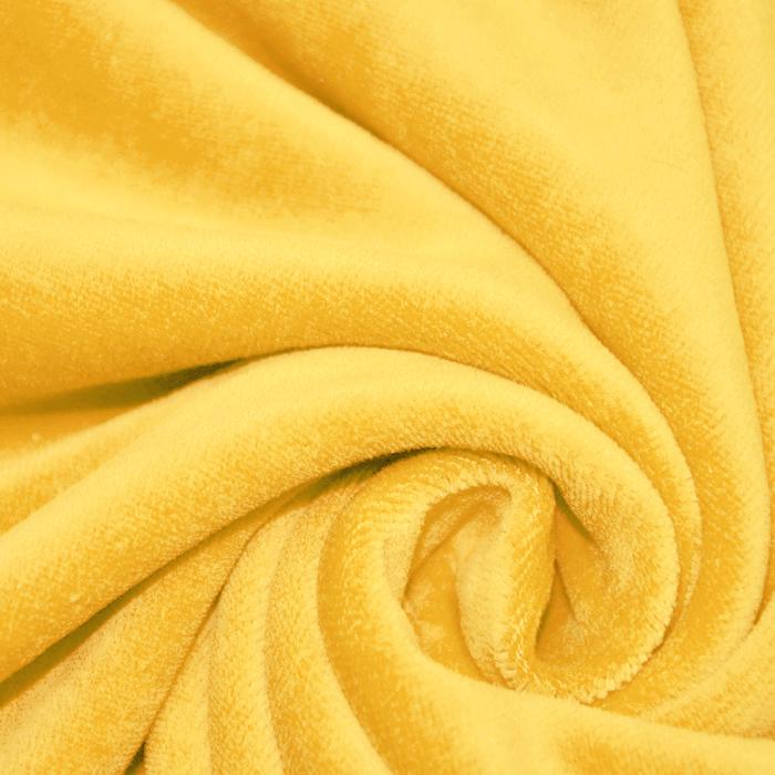 Pliš bombažen, 13348-035, rumena