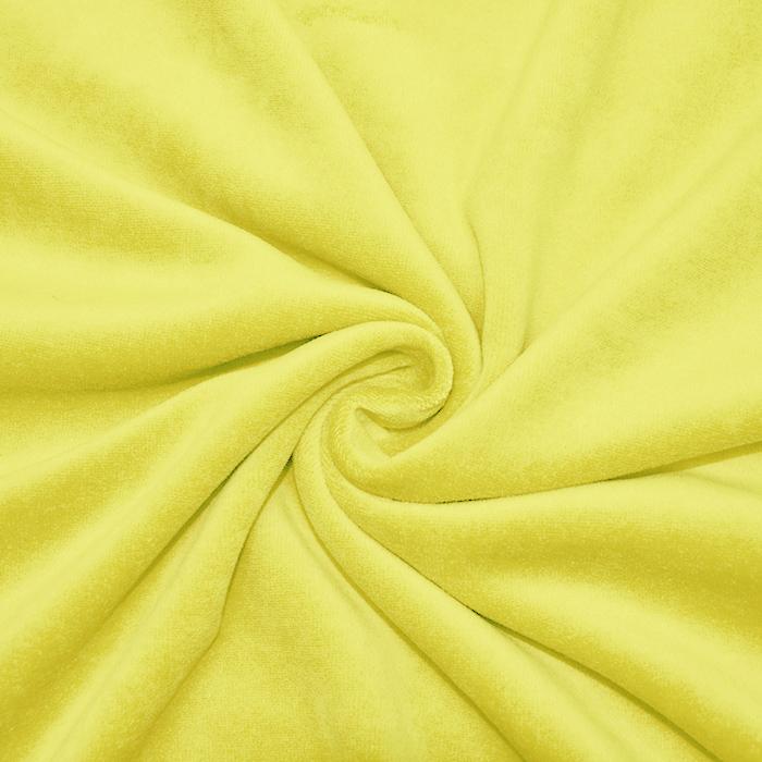 Pliš bombažen, 13348-134, rumena