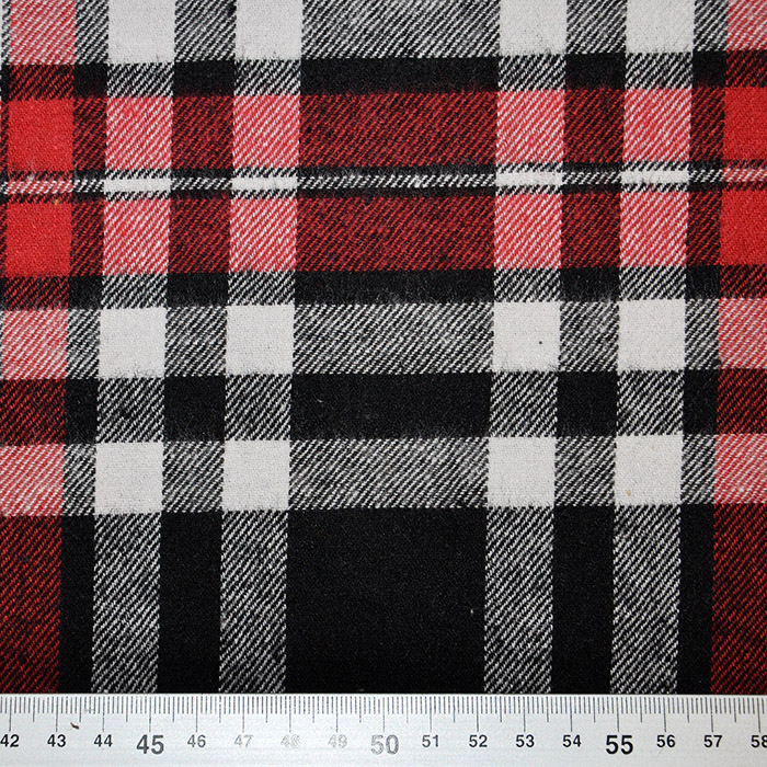 Flanela, kare, 18589-013, rdeče črna