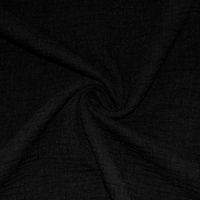 Tetra tkanina, dvojna, 18746-001, črna